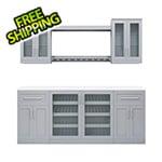 "NewAge Home Bar Grey 8-Piece Cabinet Set - 21"""