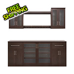 NewAge Home Bar Espresso 8-Piece Cabinet Set - 21""