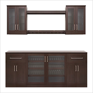 "Espresso 8-Piece Cabinet Set - 21"""