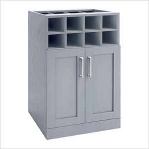 """Grey Wine Storage Cabinet - 21"""""""