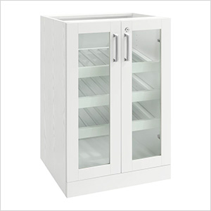 White Display Cabinet - 21""
