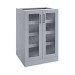 NewAge Home Bar Grey Display Cabinet - 21""