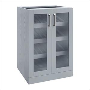 "Grey Display Cabinet - 21"""