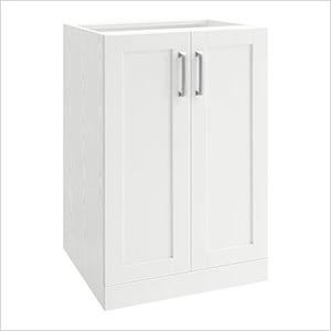 """White 2-Door Cabinet - 21"""""""