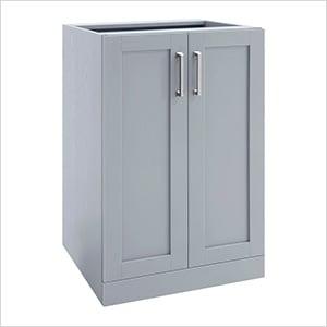 """Grey 2-Door Cabinet - 21"""""""