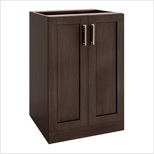 """Espresso 2-Door Cabinet - 21"""""""