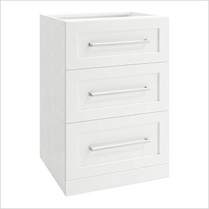 White 3-Drawer Cabinet - 21""