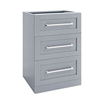 NewAge Home Bar Grey 3-Drawer Cabinet - 21""