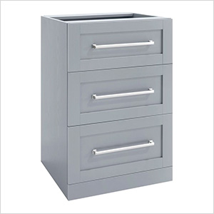 Grey 3-Drawer Cabinet - 21""