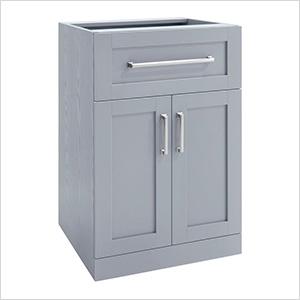 """Grey 2-Door with Drawer Cabinet - 21"""""""