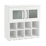 NewAge Home Bar White Wall Wine Rack Cabinet - 21""