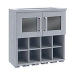 NewAge Home Bar Grey Wall Wine Rack Cabinet - 21""