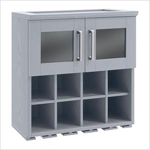 "Grey Wall Wine Rack Cabinet - 21"""