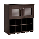 NewAge Home Bar Espresso Wall Wine Rack Cabinet - 21""
