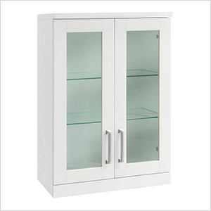 White Short Wall Cabinet - 21""