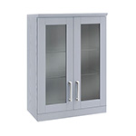 NewAge Home Bar Grey Short Wall Cabinet - 21""