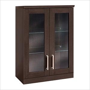 "Espresso Short Wall Cabinet - 21"""