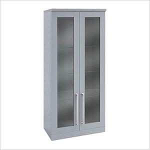 "Grey Tall Wall Cabinet - 21"""
