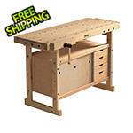 Sjobergs Nordic Plus 1450 Workbench with 00-42 Storage Cabinet Combo and Accessory Kit