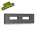 Ulti-MATE Garage Cabinets 13-Piece Cabinet Kit with 2 Bamboo Worktops in Graphite Grey Metallic