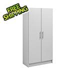 "Prepac Elite 32"" Light Grey Storage Cabinet"