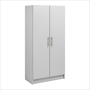 "Elite 32"" Light Grey Storage Cabinet"