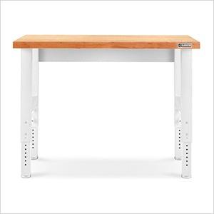 Height Adjustable 4-Foot Hardwood Workbench