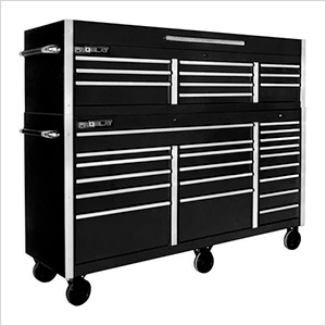 """Black 72"""" Rolling Tool Chest Combo"""