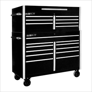 "Black 54"" Rolling Tool Chest Combo"