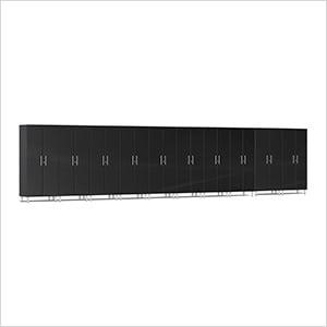 10-Piece Tall Garage Cabinet Kit in Midnight Black Metallic