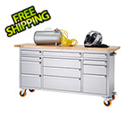 Trinity 72 in. Stainless Steel Rolling Workbench