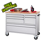 Trinity 48 in. Stainless Steel Rolling Workbench