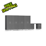 Ulti-MATE Garage Cabinets 7-Piece Cabinet Kit with Channeled Worktop in Graphite Grey Metallic