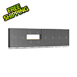 Ulti-MATE Garage Cabinets 11-Piece Cabinet Kit with Bamboo Worktop in Graphite Grey Metallic