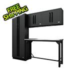 Proslat Fusion Pro 5-Piece Garage Workbench System (Black)