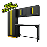Proslat Fusion Pro 5-Piece Garage Workbench System (Yellow)