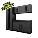 Proslat Fusion Pro 5-Piece Garage Cabinet System (Black)