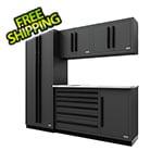 Proslat Fusion Pro 5-Piece Tool Cabinet System (Black)