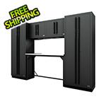Proslat Fusion Pro 6-Piece Garage Workbench System (Black)