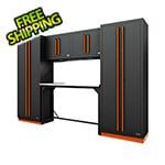 Proslat Fusion Pro 6-Piece Garage Workbench System (Orange)