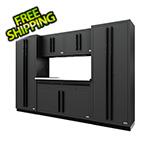 Proslat Fusion Pro 6-Piece Garage Cabinet System (Black)