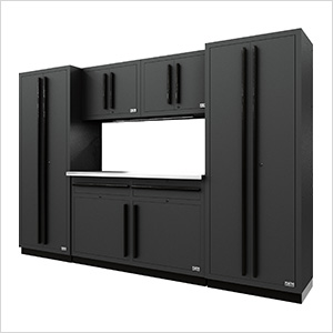 Fusion Pro 6-Piece Garage Cabinet System (Black)