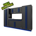 Proslat Fusion Pro 6-Piece Garage Cabinet System (Blue)