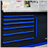 Fusion Pro 6-Piece Tool Cabinet System (Blue)