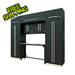 Proslat Fusion Pro 9-Piece Garage Workbench System (Silver)