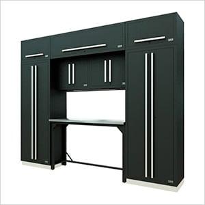 Fusion Pro 9-Piece Garage Workbench System (Silver)
