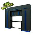 Proslat Fusion Pro 9-Piece Garage Workbench System (Blue)