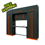 Proslat Fusion Pro 9-Piece Garage Workbench System (Orange)