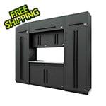 Proslat Fusion Pro 9-Piece Garage Cabinet System (Black)