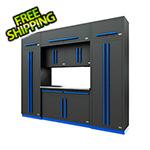 Proslat Fusion Pro 9-Piece Garage Cabinet System (Blue)